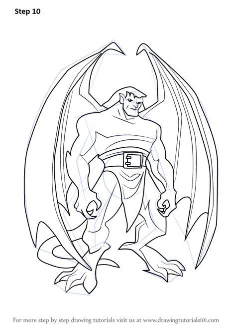 learn   draw goliath  gargoyles gargoyles step