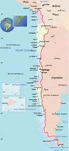 Mapa Político do Chile Chile