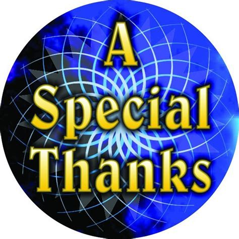 Image result for special thanks