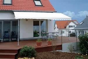 verschattung fur die terrasse in 5 schritten zur With markise balkon mit tapete steinoptik rot