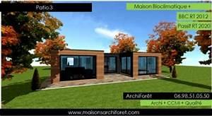 Maison Architecte Plain Pied : patios maison avec patio par architecte constructeur ossature bois du plan de permis de ~ Melissatoandfro.com Idées de Décoration