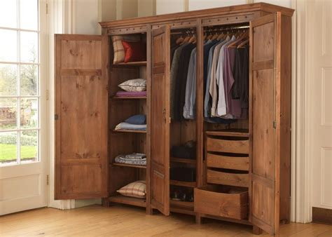 Wooden Wardrobe With Shelves by Luxury 3 Door Wardrobe In Solid Wood Handmade In The Uk