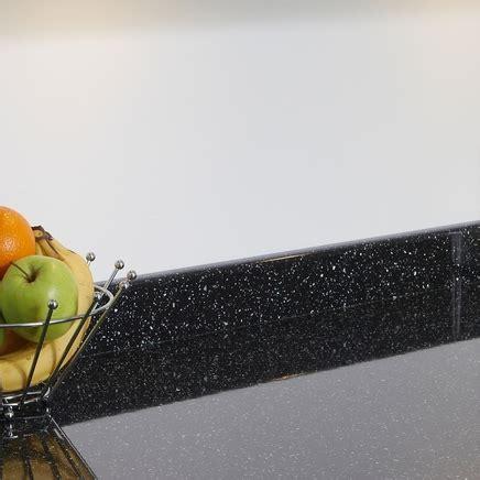 Black Mirror Chip upstand   Kitchen worktop upstands