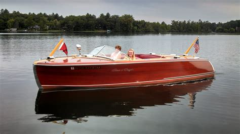 1956 Higgins Wood Boat by Show Summary Geneva Lakes Boat Show