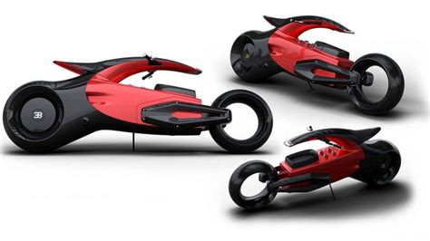 Bugatti designed at least some cycle parts to match: The network showed a prototype electric motorcycle Bugatti