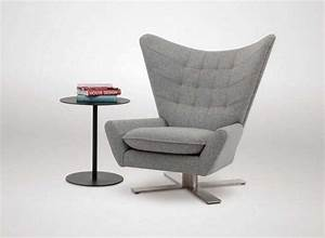 Living room swivel chairs with modern design in grey color for Designer chairs for living room