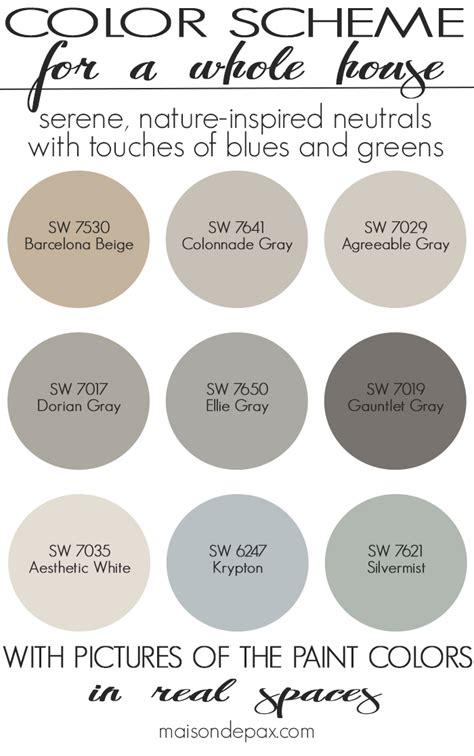 paint color home tour nature inspired neutrals maison