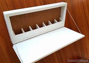 Wall-Mounted Secretary Desk (or Murphy Desk)
