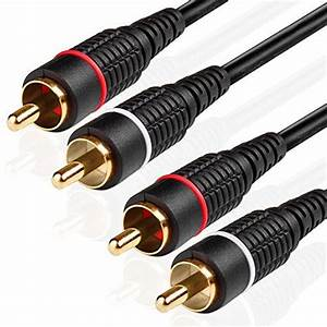 3 Feet  U2013 2rca To 2rca Cable  J U0026d Gold
