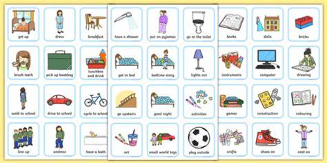 daily routine visual timetable  girls teacher