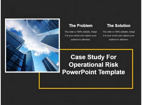 case study  operational risk powerpoint template