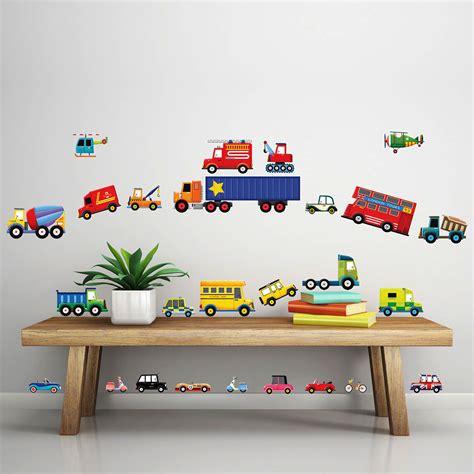 Wandtattoo Kinderzimmer Junge Auto by Wandsticker Lastkraftwagen Transporter Autos Wandsticker