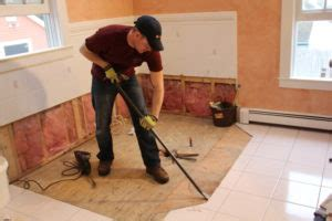 Removing Bathroom Floor Tiles by Img 00681
