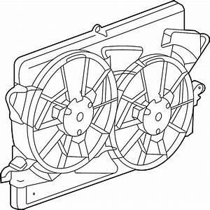 Chevrolet Malibu Engine Cooling Fan Shroud  Radiator  Make