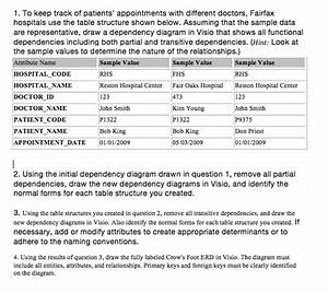 Solved  1  To Keep Track Of Patients U0026 39  Appointments With Di