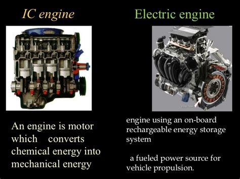 Electric Vehicle Engine by Combustion Engine Vs Electric Engine