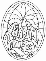 Nativity Coloring Pages Christmas Scene Glass Jesus Stained Story Drawing Bible Line Colouring Colorluna Craft Tocolor Da Precious Moments Colorare sketch template