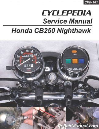 honda cb cbsc nighthawk cyclepedia printed service manual