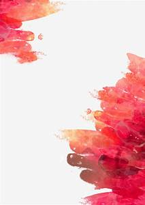 Red Watercolor Painting Background, Red, Watercolor