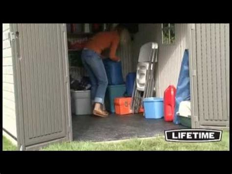 lifetime 8x10 outdoor shed model 6405 youtube