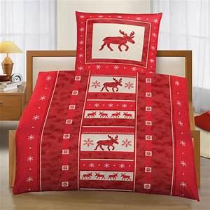 Bettwäsche Elch Motiv : bettw sche im elchdesign rot 135 x 200 cm ~ Sanjose-hotels-ca.com Haus und Dekorationen