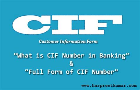 Number Full Form by What Is Cif Number Full Form Of Cif In Banking