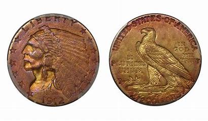 Coins Gold Toned Guide Head Quarter Toning