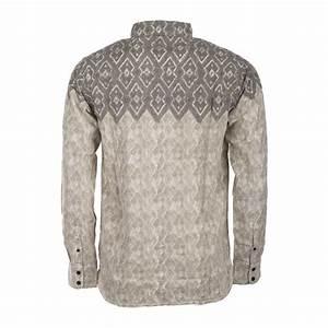 Chemise Homme Motif Original : chemise manches longues grise motif homme burton prix ~ Nature-et-papiers.com Idées de Décoration