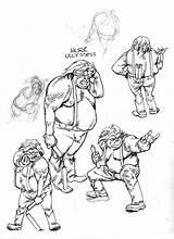 Redneck Hillbillies Coloring Hillbilly Sketch Template sketch template
