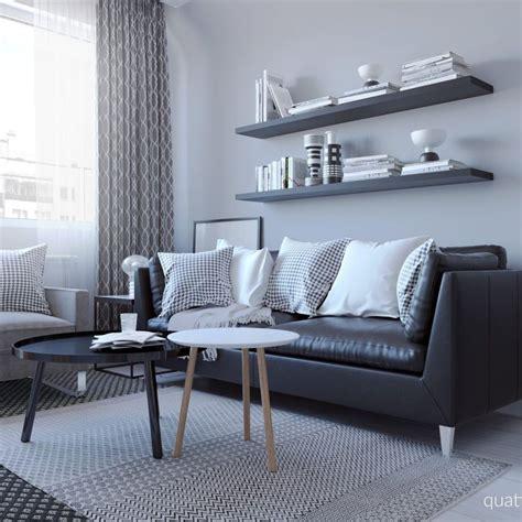 skandinavski polkh black sofa living room black sofa