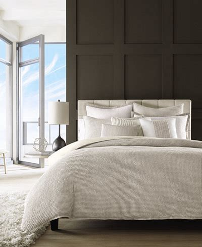 hotel collection waffle weave bedding collection created