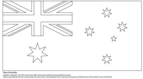 australian flag coloring page  printable coloring pages