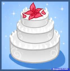 how to draw a wedding cake step by step food pop