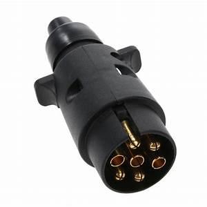 12v 7 Way Round Plastic Rv Trailer Plug Connector Standard