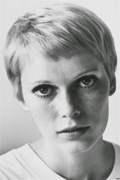 Mia Farrow Pixie Haircut