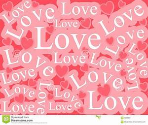 Words Of Love Background Pattern Stock Image