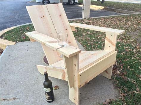 diy homemade wooden chair  built  wine glass holder