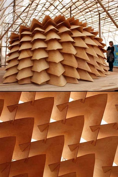 finnish dragon skin pavilion architecture biennale hong kong china plywood bentplywood
