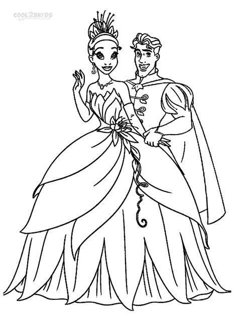 printable princess tiana coloring pages  kids
