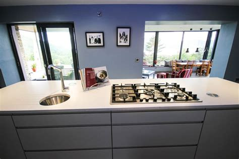 kitchen island with sink and hob this island unit combines a gas hob circular sink and 9450