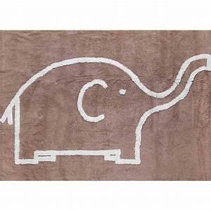 Tapis Pour Bébé : tapis enfant b b en coton motif l phant sign aratextil ~ Melissatoandfro.com Idées de Décoration