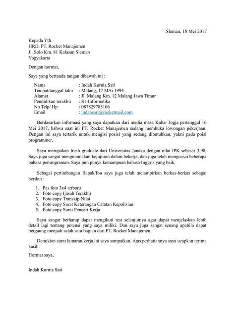 Aneka Contoh Surat Lamaran Kerja Part Time 80 Di Menulis Surat Lamaran Unik pada post Contoh