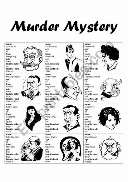 Murder Mystery Worksheet Worksheets