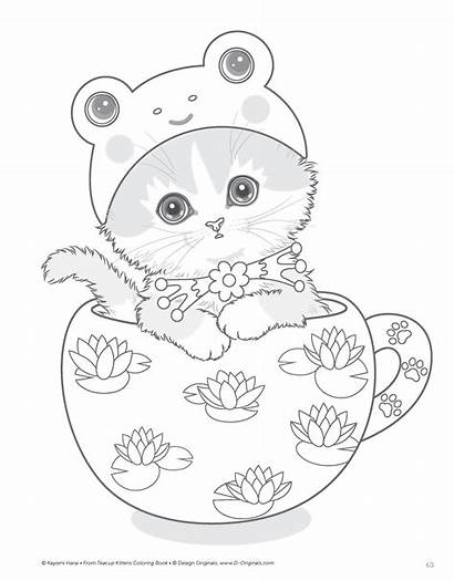 Coloring Cat Teacup Kittens Pages Cats Kitten