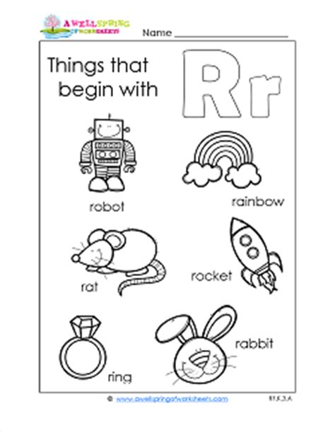 things that start with letter t with objects that things that begin with r a wellspring of worksheets 33428