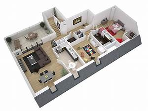 plan coupe 3d infographie infographiste graphiste With plan de maison 100m2 6 plan coupe 3d infographie infographiste graphiste