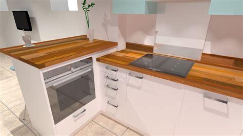 cuisine et cuisine les rouen cuisine blanche et bois à
