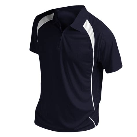 Contrast Neck Sleeve T Shirt sols mens palladium contrast zip neck sleeve sport