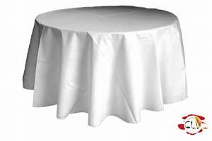 Nappe Blanche Ronde : nappe ronde d 3 ml blanche clv location de vaisselle ~ Teatrodelosmanantiales.com Idées de Décoration