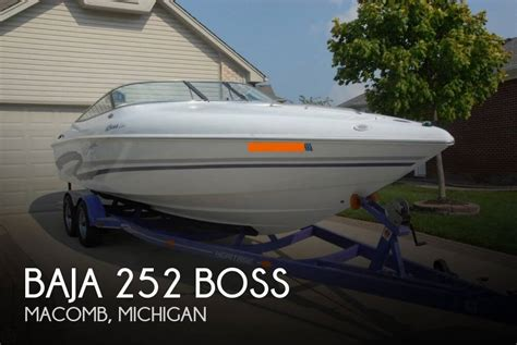 Boats For Sale In Macomb Mi by Sold Baja 252 Boss Boat In Macomb Mi 086813